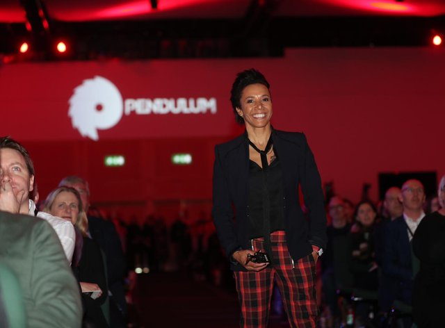 Dame Kelly Holmes spoke about her own mental health issues at a summit in Dublin (Twitter: Pendulum Summit)