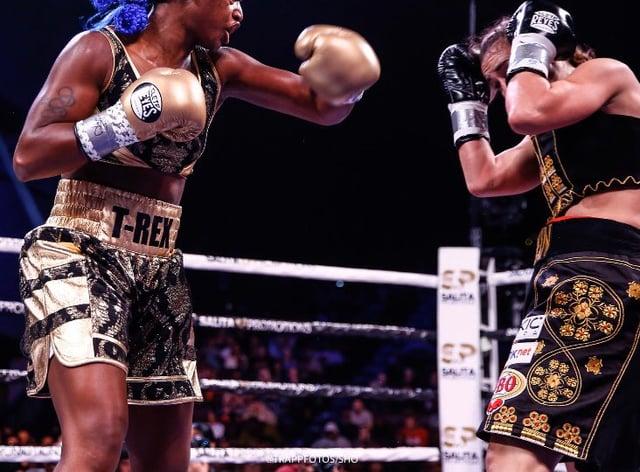 Shields beat Habazin in a convincing win (Twitter: Boxing Lowdown)