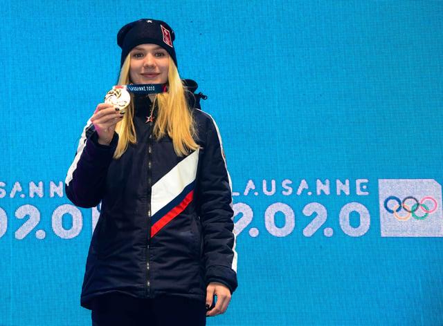 Alyona Mokhova won gold in the women's biathlon (PA Images)