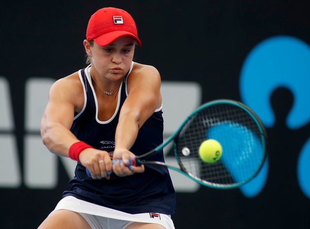 Barty claimed her first singles win of 2020 with a gritty performance (PA Images)