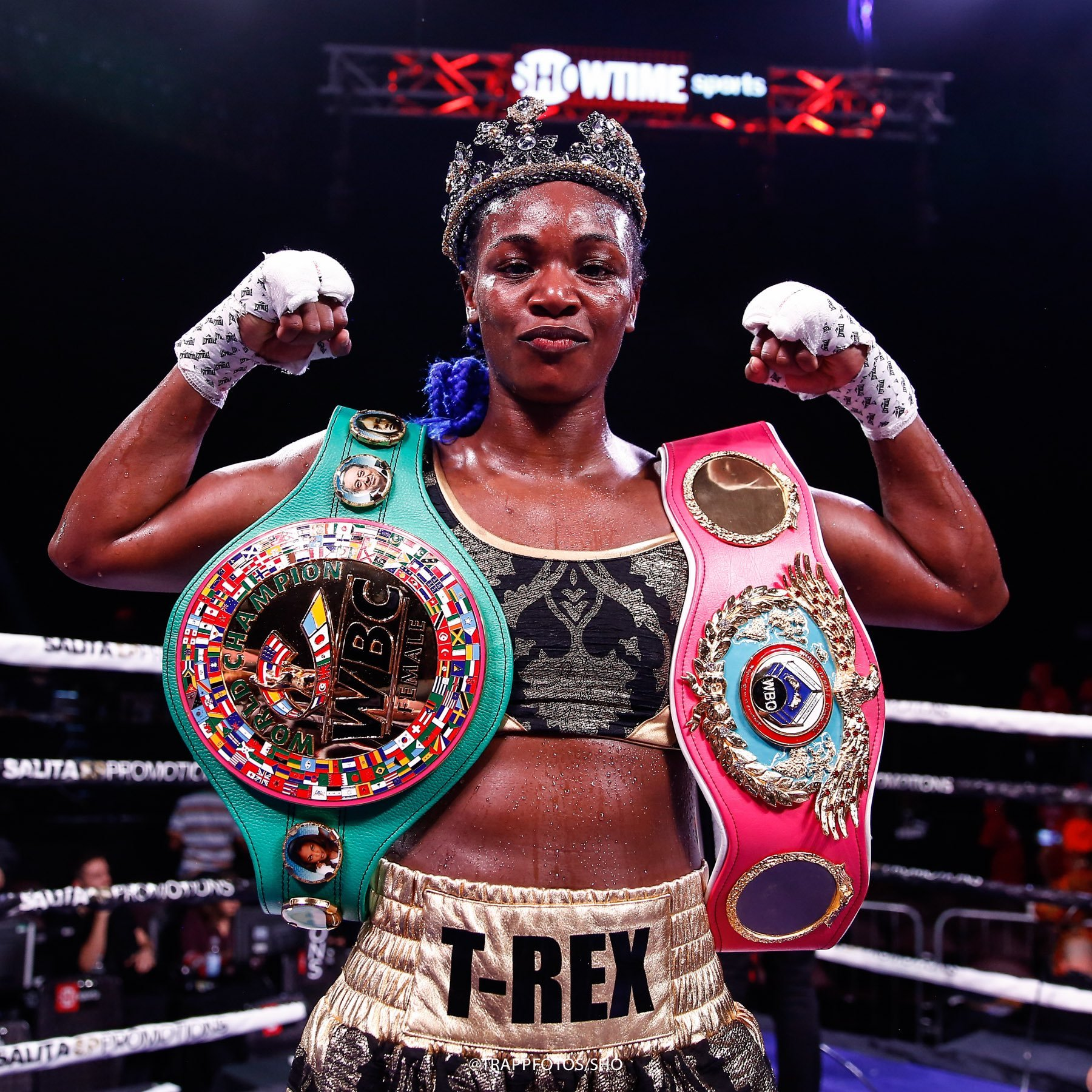 Claressa Shields hits back at Laila Ali by saying 'she never beat any real fighters' as talk turns to a potential super fight between them