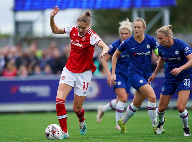 Miedema could not prevent the Gunners losing to Chelsea in October (PA Images)