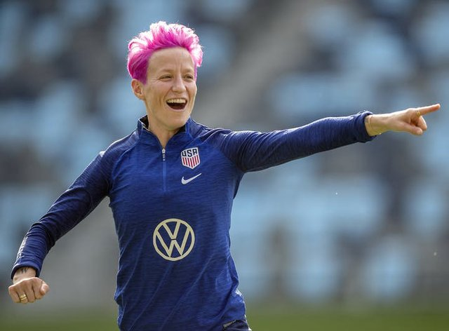 Rapinoe led USA to a second successive World Cup victory (PA Images)