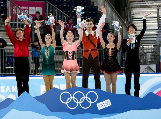 Team Courage emerged victorious in the mixed NOC team figure skating event (PA Images)