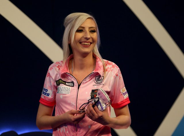 Sherrock made history at the PDC Darts World Championships last month (PA Images)