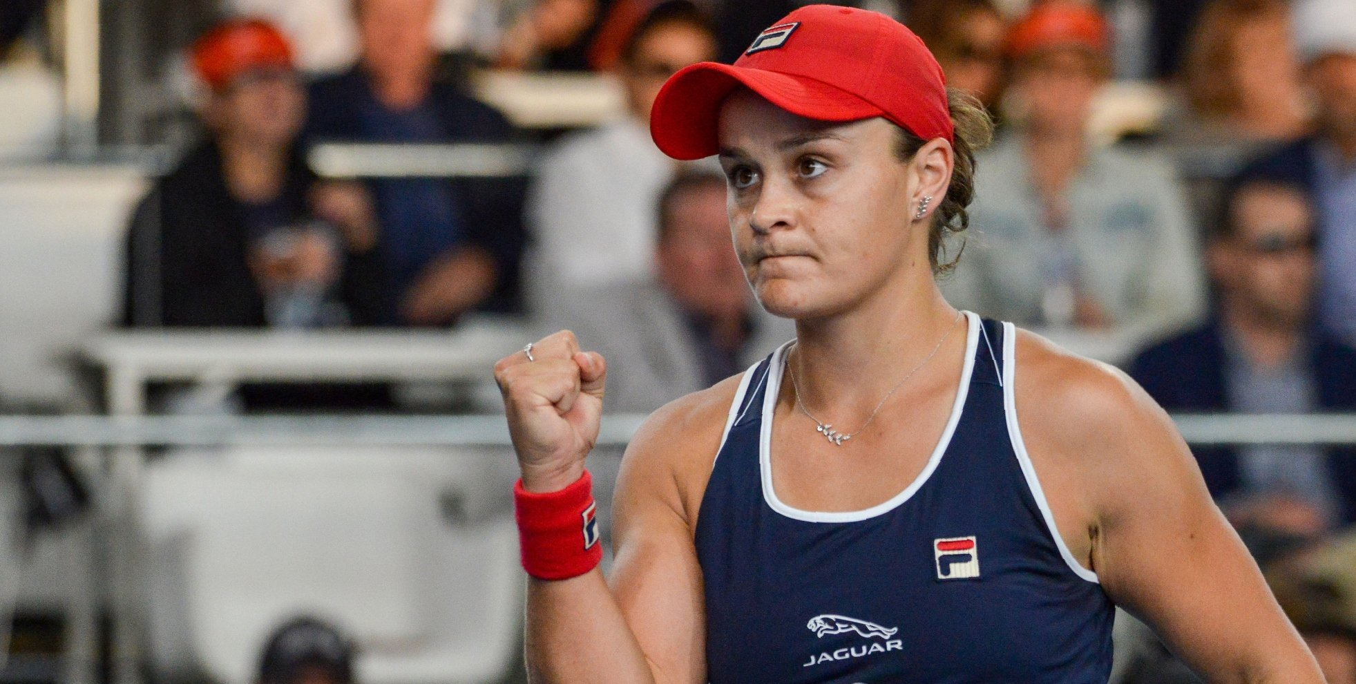 World No 1 Ashleigh Barty fights back from a set down to beat America's Danielle Collins and book place in Adelaide International final