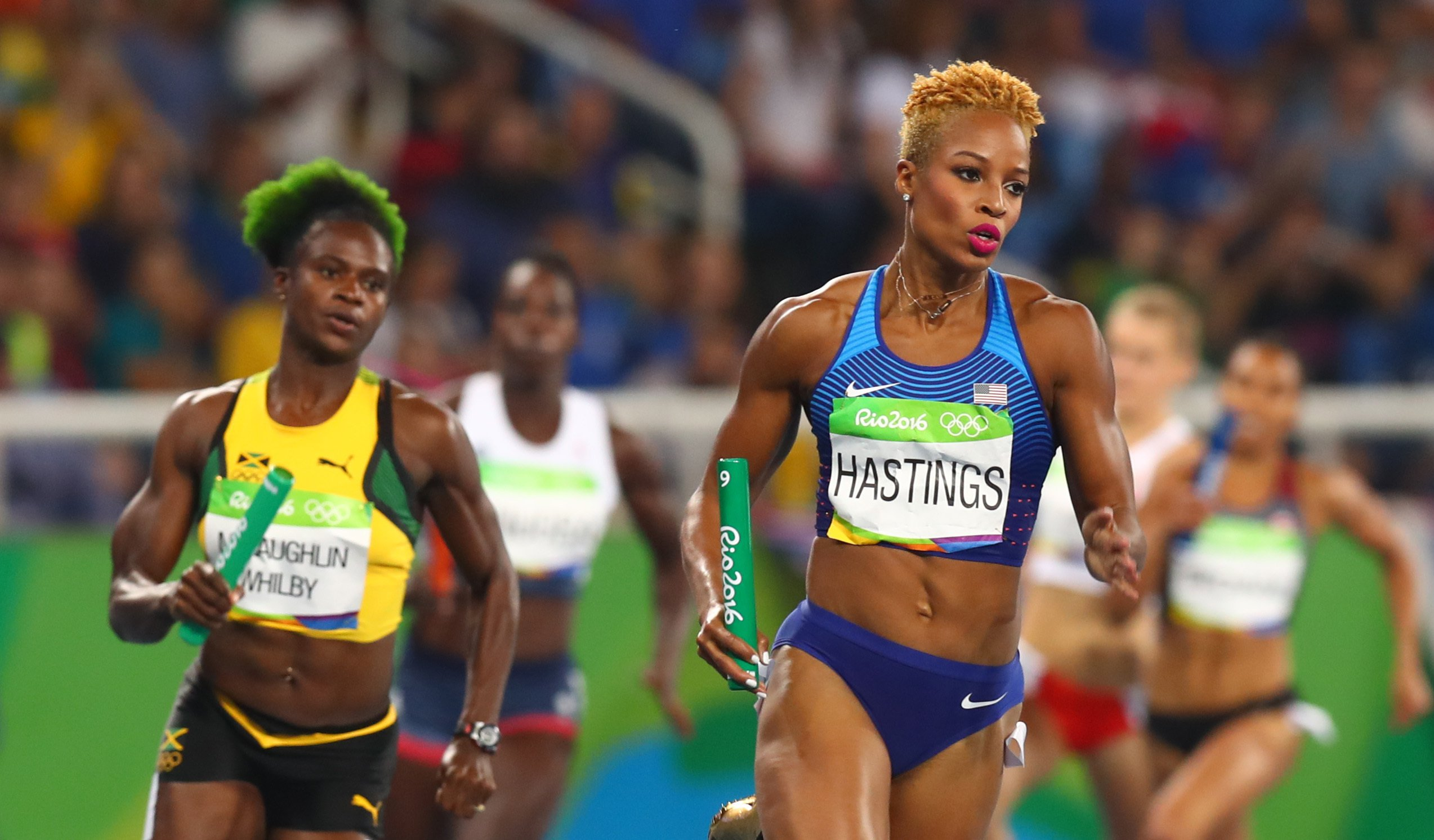 Olympic gold medallist Natasha Hastings hid her pregnancy from sponsors due to worry over their reaction