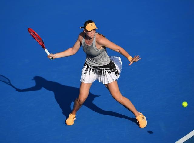 Elena Rybakina claimed a straight-sets victory in Hobart (PA Images)