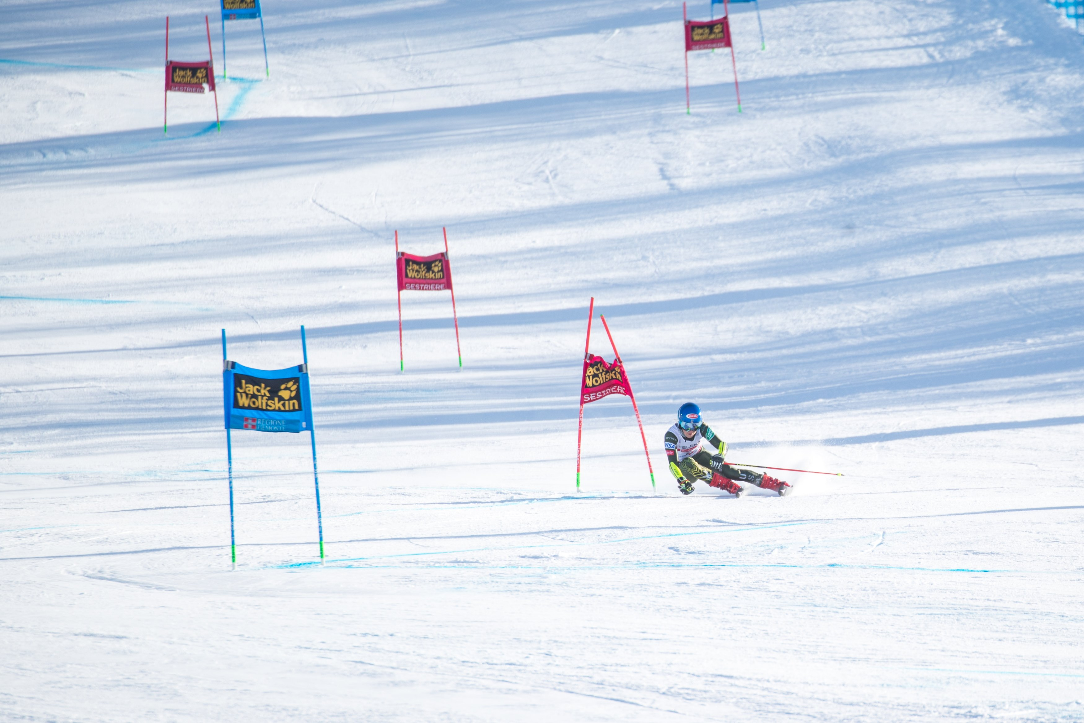 American skiing star Mikaela Shiffrin makes yet another World Cup podium taking bronze behind Federica Brignone and Petra Vlhova by .01 seconds in Giant Slalom in Italy