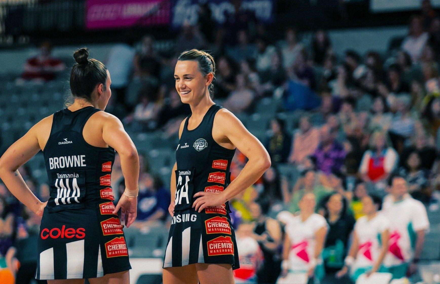 Australian netballer Nat Medhurst announces pregnancy with her partner, former West Eagle's star Sam Butler