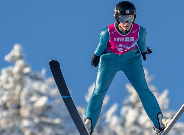 Mani Cooper makes history as the first British female on an Olympic ski-jump (GB Snowsport)