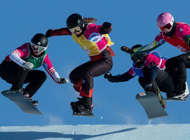 Josie Baff (right) won Australia's first Youth Olympic Winter Games medal (twitter: @Calacus_PR)