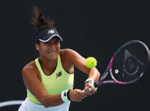 A gritty performance from Heather Watson sees her advance to the second round (twitter: @HeatherWatson92)