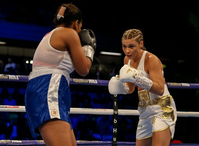 <p>Courtenay suffered her first defeat as a pro earlier this year</p>