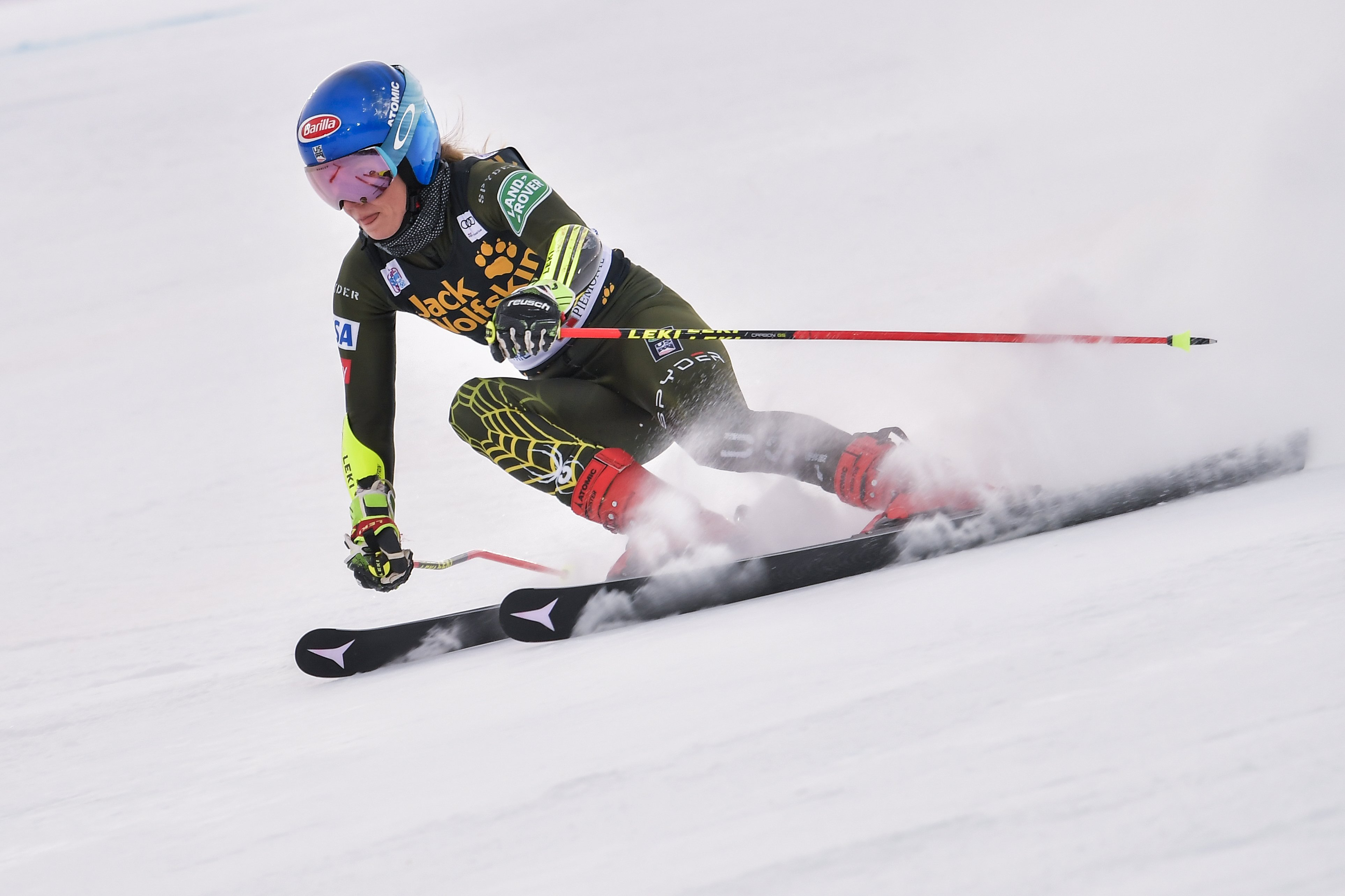 Three-time World Champion skier Mikaela Shiffrin breaks drought and claims first 2020 win taking victory in the World Cup downhill in Bulgaria