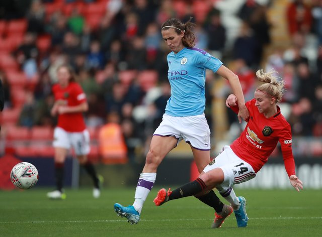Manchester City and Manchester United battled it out to gain a spot in the next round of the FA Cup (PA Images)