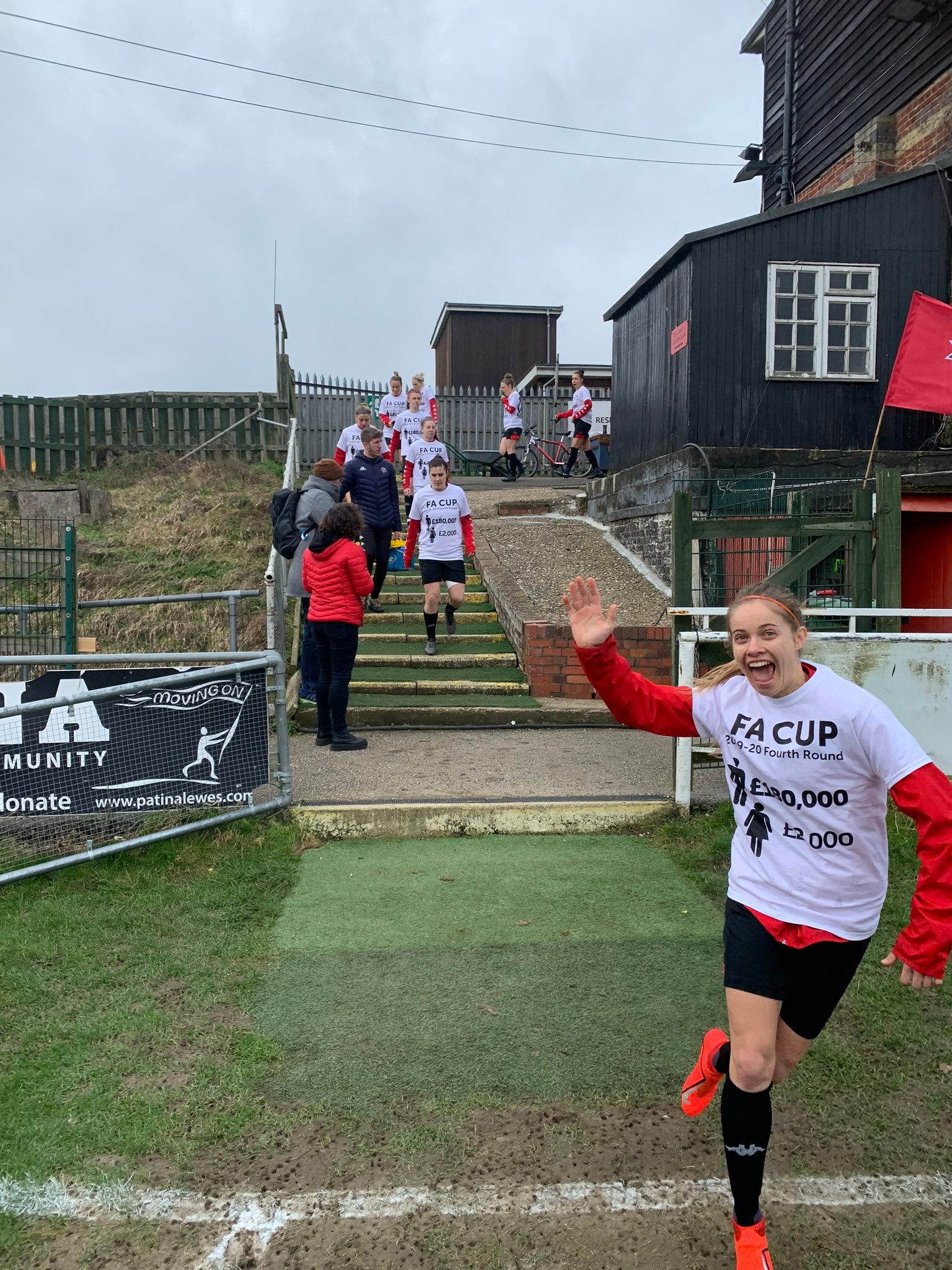 Lewes Women FC continue their fight against FA Cup pay gap with customised T-shirts at fourth-round tie against Billericay Town