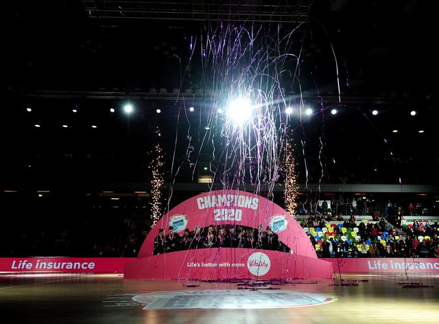 The Silver Ferns celebrate their victory over the Sunshine Girls (PA Images)