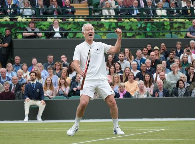 John McEnroe won four US Open and three Wimbledon titles and nine men's doubles Grand Slam titles (PA Images)