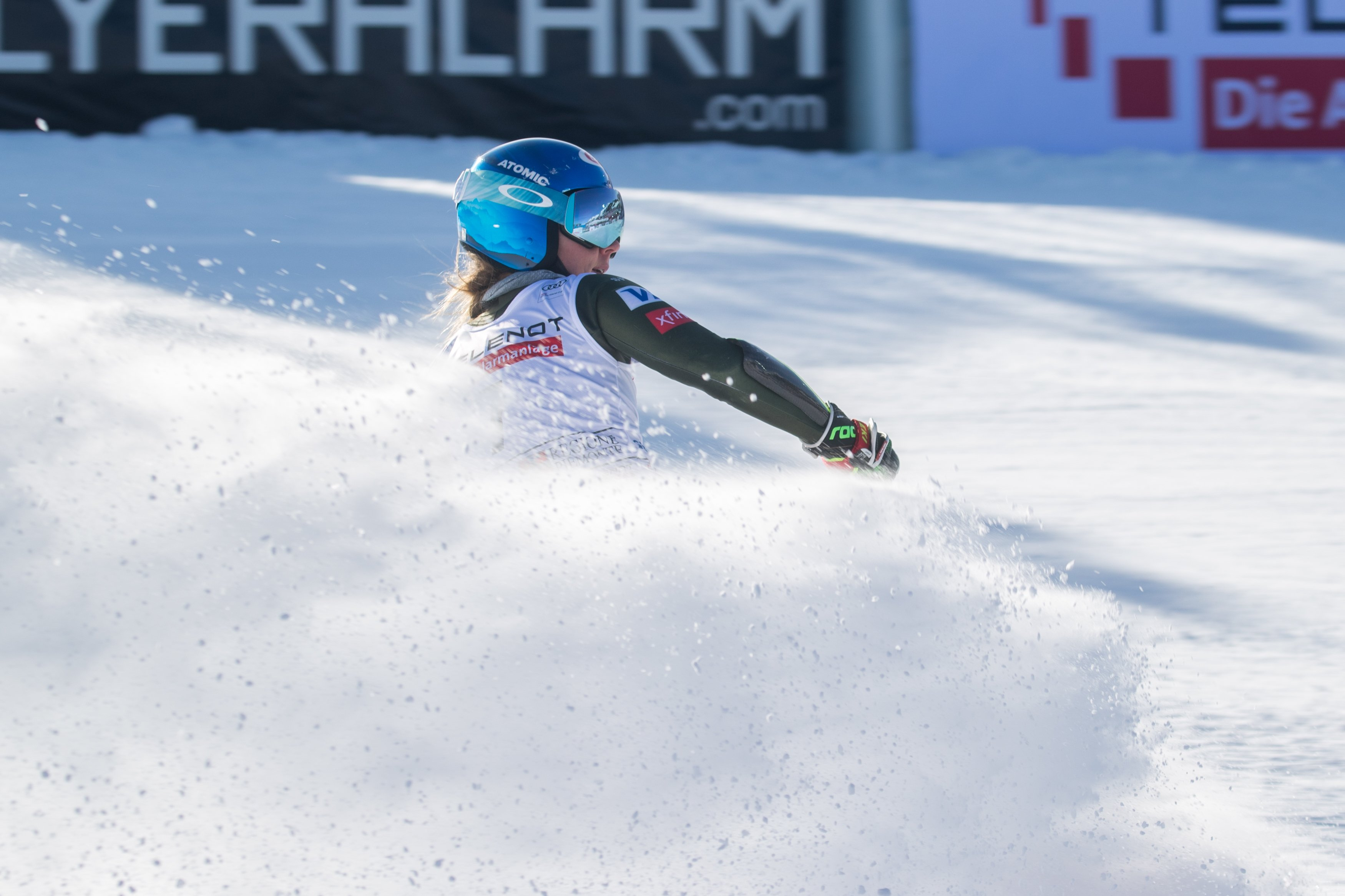 American skiing champion Mikaela Shiffrin completes a perfect weekend with victory in the Super-G to follow-up downhill title