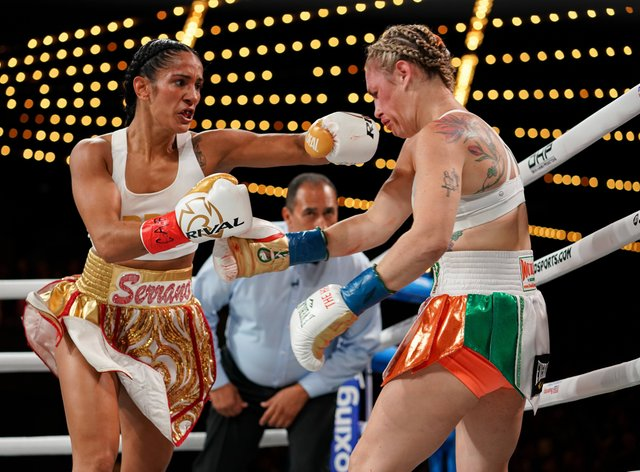 Serrano beat undefeated boxer Heather Hardy in New York in September (PA Images)