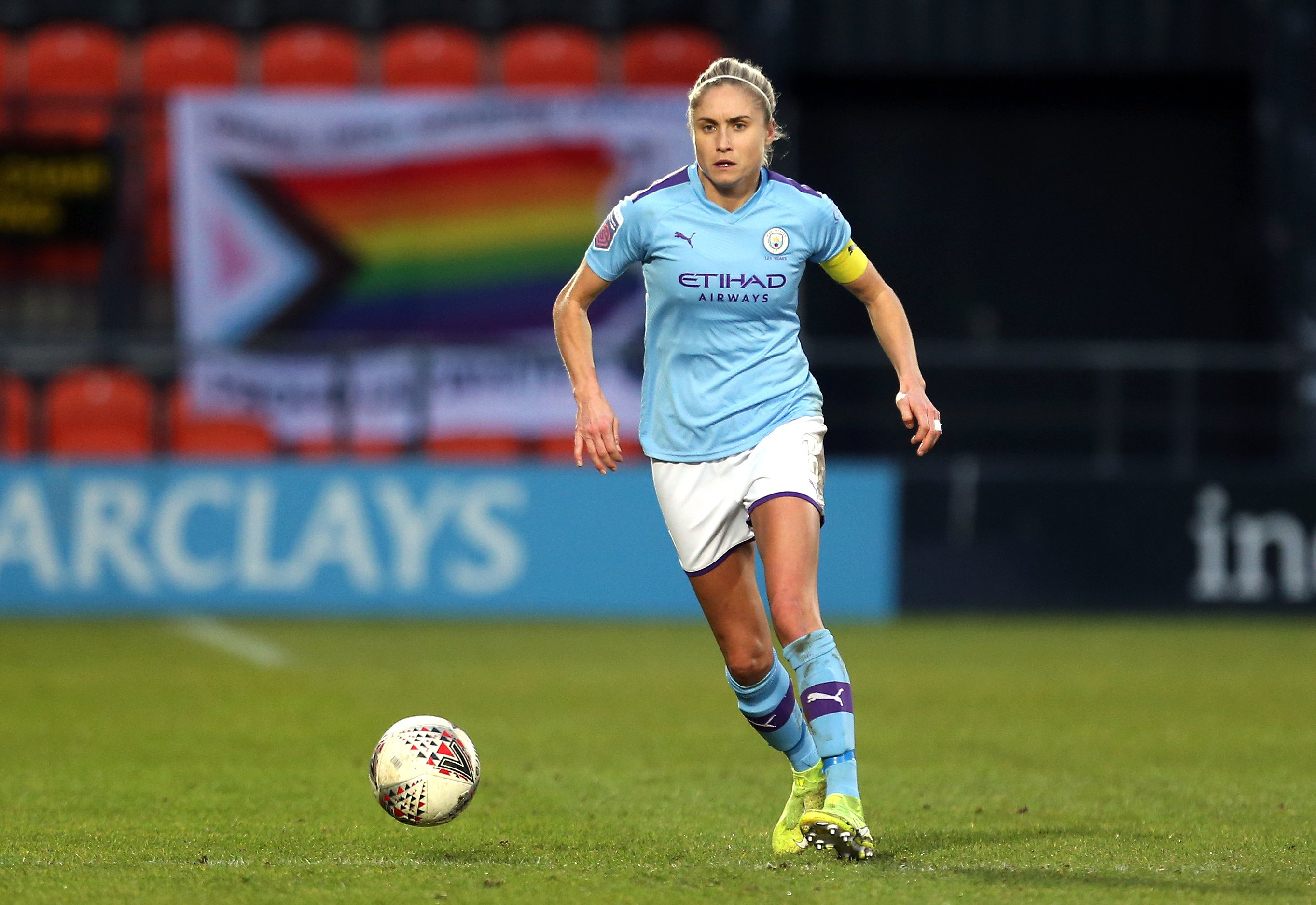 Manchester City captain Steph Houghton determined to finish on a high for outgoing boss Nick Cushing