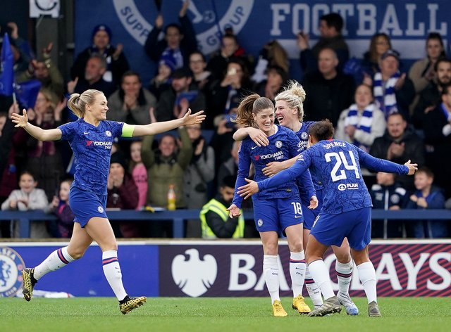 Chelsea celebrate easy win over West Ham (PA Images)