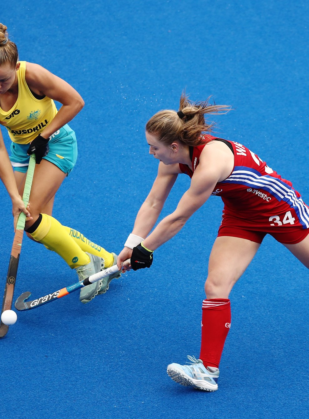 Charlotte Watson (right) who has earned six caps for GB (PA Images)
