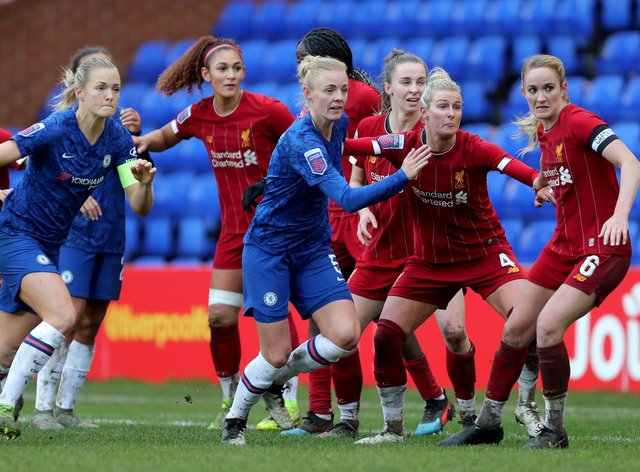 Chelsea fell four points behind Arsenal in the WSL table in December after drawing with Liverpool (PA Images)