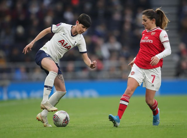 Neville was a part of the Spurs side who were beaten 2-0 by Arsenal in front of a record WSL crowd at the Tottenham Hotspur Stadium (PA Images)