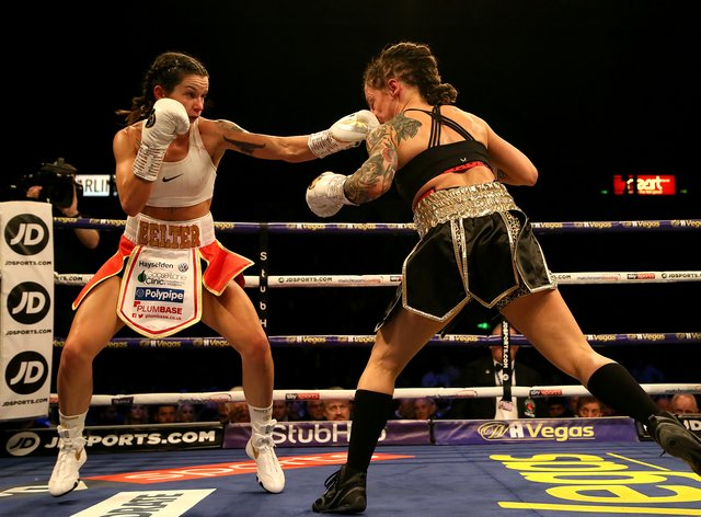 Terri Harper lands a well-aimed jab on Eva Wahlstrom (PA Images)