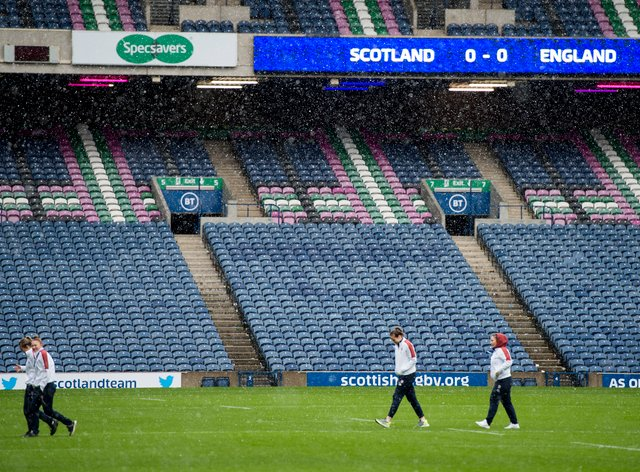 England prepared for their clash in an empty stadium (PA Images)