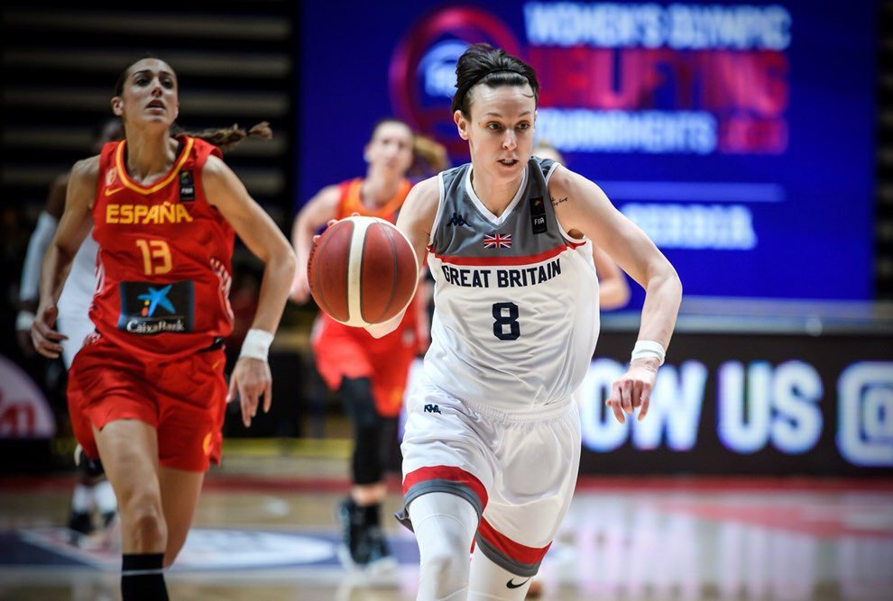 Chantelle Handy's team narrowly missed out on a trip to Tokyo (Twitter: GB Basketball and FIBA)