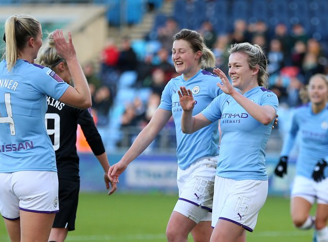 Manchester City will be looking to defend their position at the top of the WSL (PA Images)