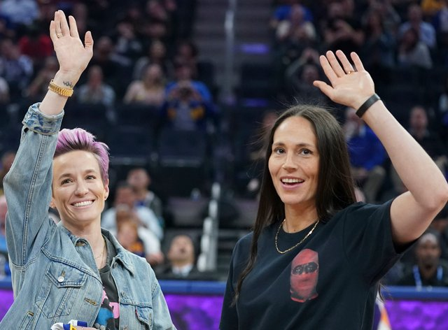 Rapinoe, left, has been with Bird, right, since 2017 (PA Images)