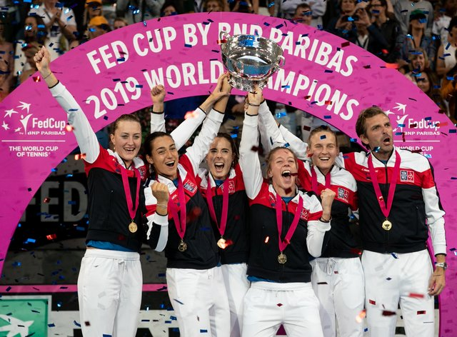France lifted the 2019 Fed Cup trophy (PA Images)