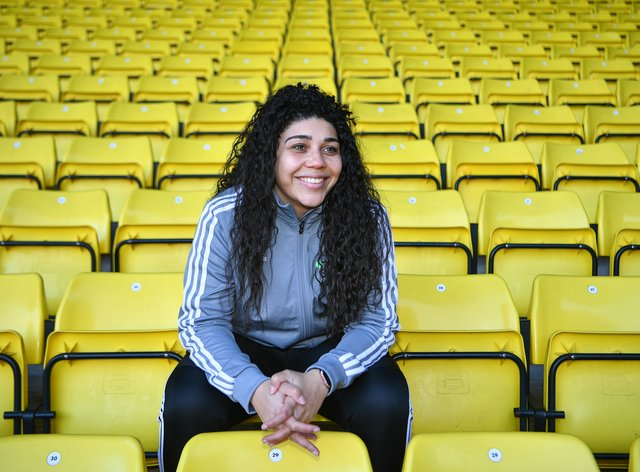 Renee Hector is all smiles on her return to Watford (Watford FC)