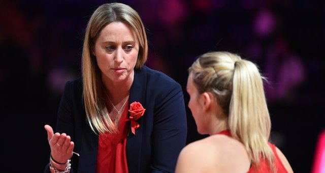Jess Thirlby took over the role as head coach from Tracey Neville (Twitter: England Netball)