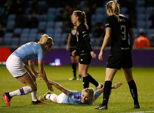 Manchester City defender Bonner scored to keep her side top of the Women's Super League (PA Images)