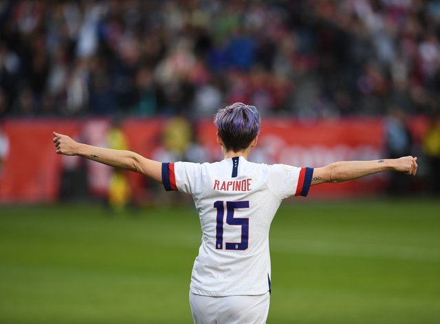 Rapinoe will hope to feature in the friendlies (PA Images)