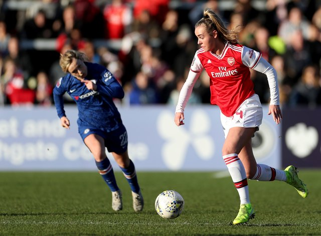 Roord (left) insists she is 'not complaining' about WSL pitches but says they needs to be better (PA Images)