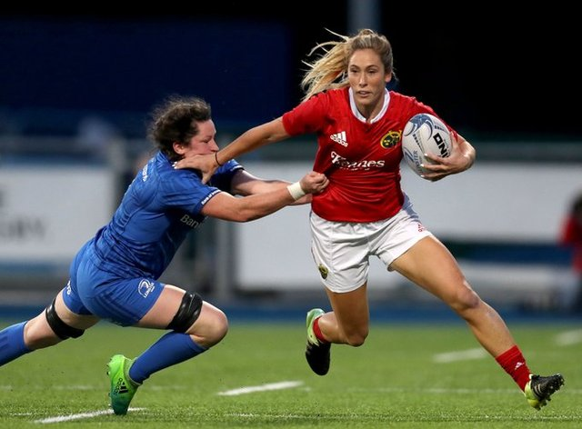 Eimear Considine, right, plays for Munster and Ireland (Twitter: Munster Rugby)