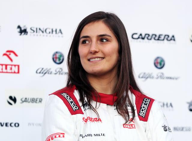 Tatiana Calderon will continue her role at Alfa Romeo (PA Images)