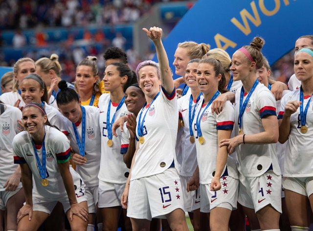 The US won the World Cup last summer (PA Images)