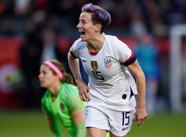 Rapinoe is upset at the unemployment crisis facing Americans, including her mum (PA Images)