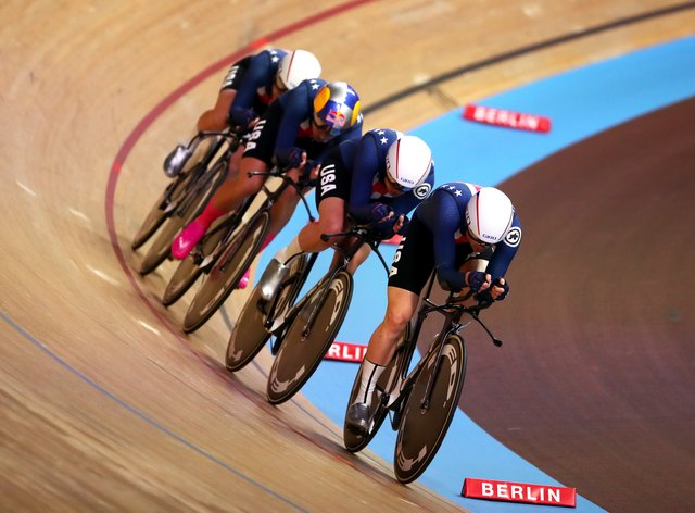 Lily Williams leads USA to the fastest qualifying time in Berlin (PA Images)