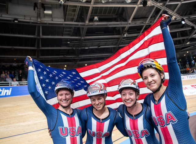The US stunned Olympic champions GB in Berlin (PA Images)