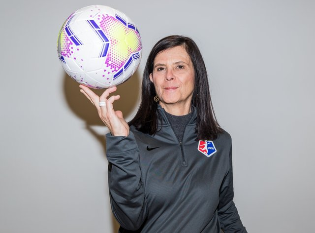 Lisa Baird has said the NWSL is aiming to come back at the end of June (Twitter: NWSL)