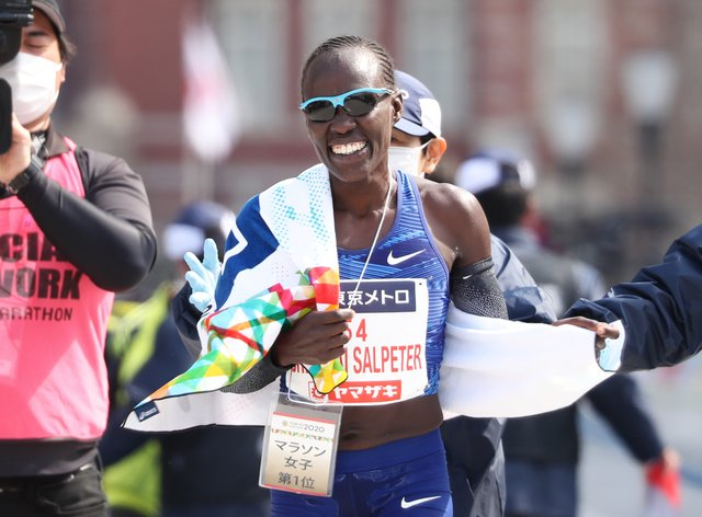 Lonah Korlima Chemtai Salpeter took victory in the women's race (PA Images)