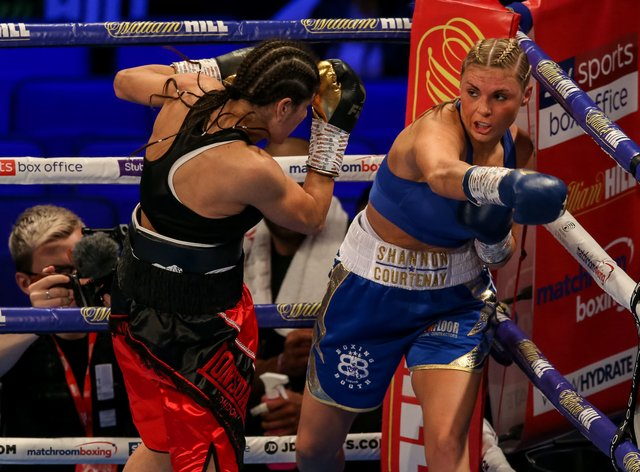 Courtenay has won all five of her professional bouts (PA Images)
